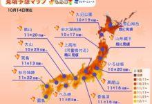 Photo of 紅葉見頃予想2020:東京や京都は来月中旬から見頃へ 北日本は早くも紅葉シーズン – ウェザーニュース