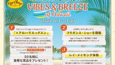 Photo of Eggs 'n ThingsでALOHAな気分を!3つのキャンペーンを実施!「Vibes & Breeze of Hawaii ~ハワイの風とバイブを感じよう!~」11月1日(日)~11月30日(月)