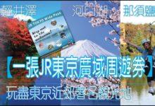Photo of 【東京自由行必備】一張JR東京廣域周遊券    讓你玩遍東京近郊著名觀光地