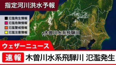 Photo of 【速報】木曽川水系飛騨川 氾濫発生