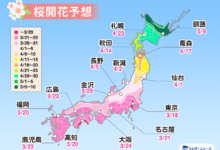 Photo of 【桜開花予想2021】桜開花トップは東京で 3/18 全国的に平年より早い開花予想 – ウェザーニュース