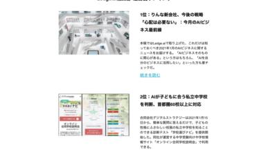 Photo of AIに関する最新ニュースやAI活用事例を知りたい方必見! Ledge.aiメルマガがリニューアル | Ledge.ai