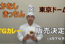 Photo of たかなしきっちん×東京ドーム TGカレー販売決定!