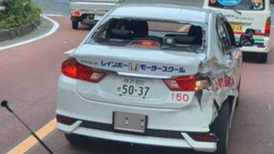 Photo of ニュース速報   「ボコボコ」に大破した教習車が一般道を走行 現場写真にSNS騒然…一体何が?スクールに聞いた   TKONEWS